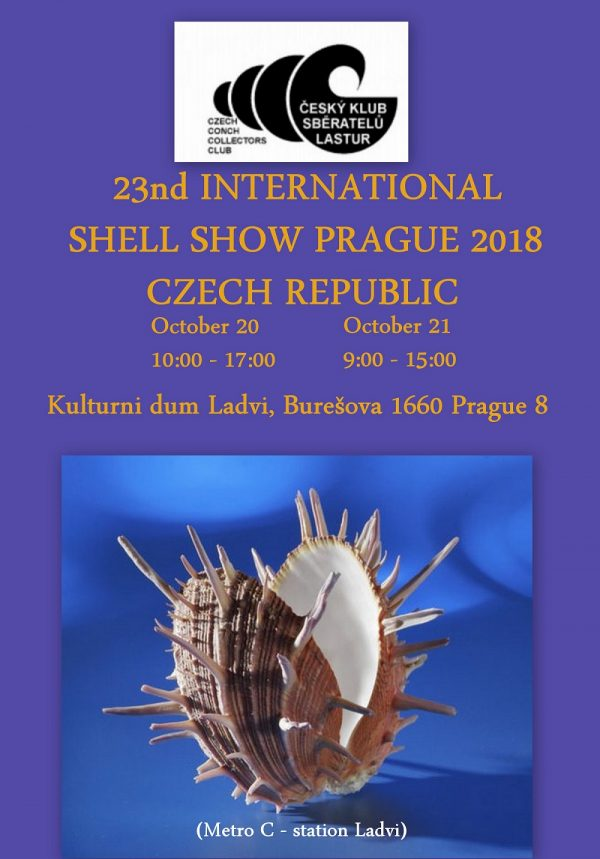 23nd International Shell Show, Prague 2018 @ Kulturni dum Ladvi   Hlavní město Praha   Chequia